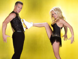 Pamela skates  off Dancing on Ice